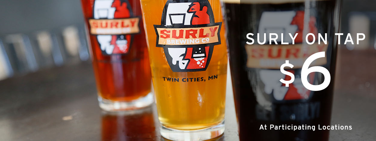 Try our new surly on tap draft beer at DAmico and Sons